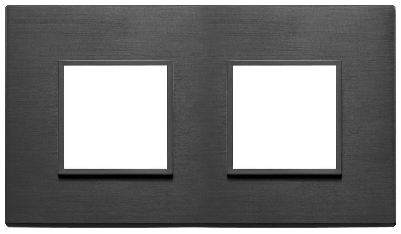 Накладка Evo на 4 модуля (2+2) расстояние между центрами 71мм, черная полностью