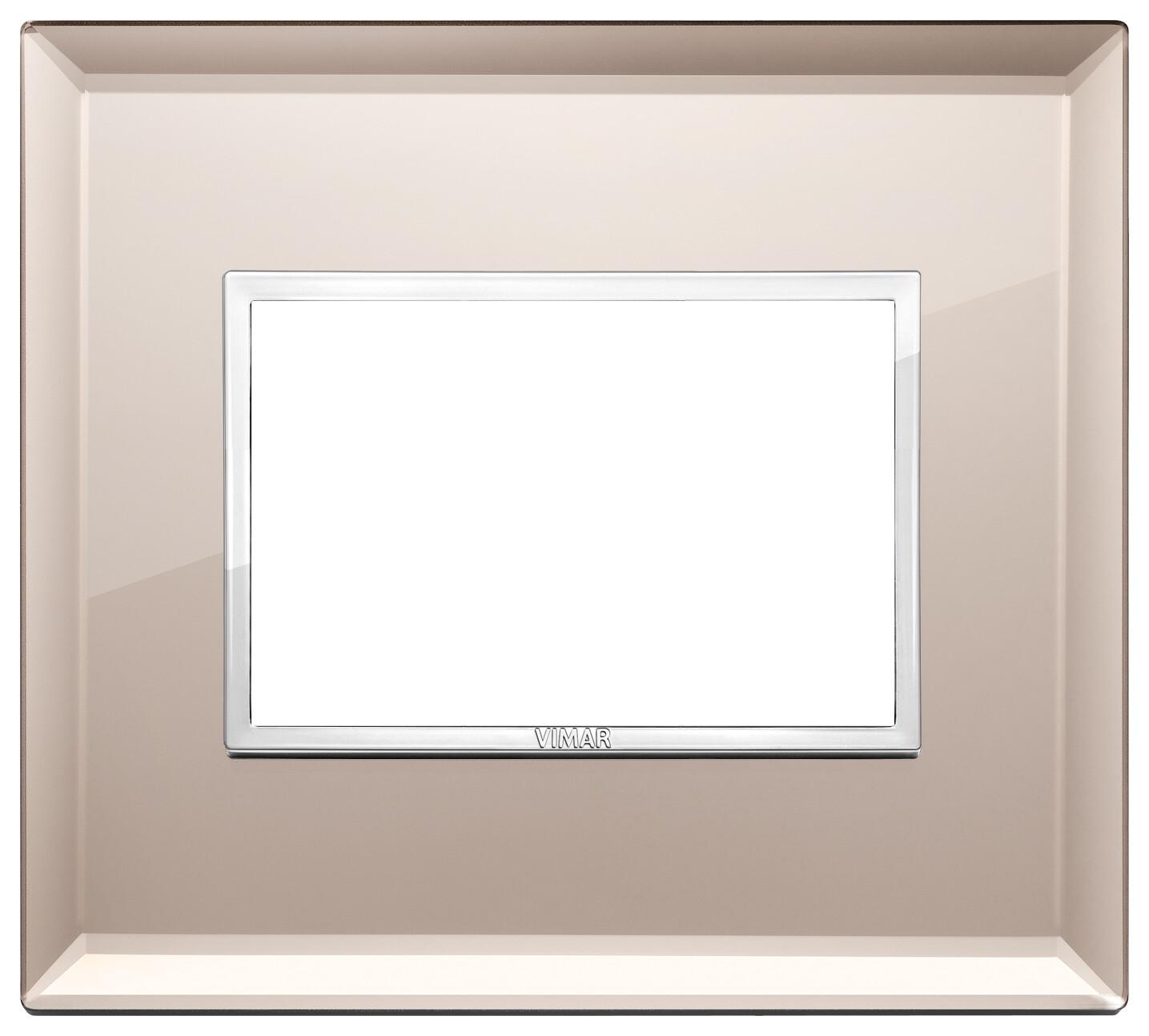 Накладка Evo на 3 модуля, бронзовое зеркало