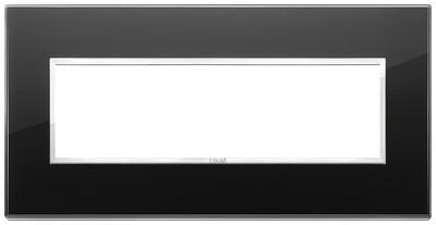 Накладка Evo на 7 модулей, черный бриллиант