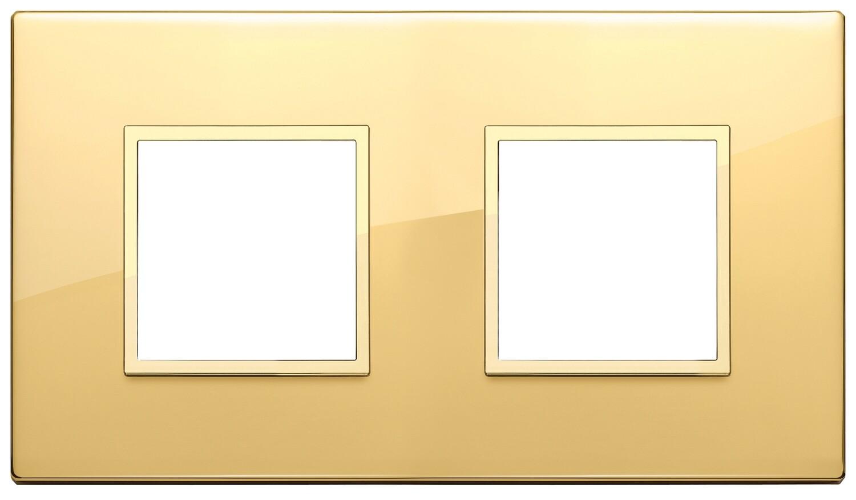 Накладка EVO для 4 модулей (2+2) расстояние между центрами 71мм, золото полированное