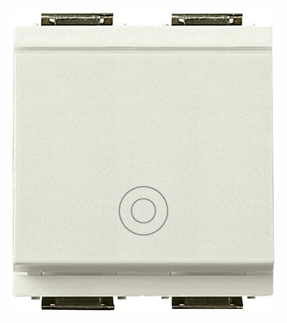 Кнопка 1P NO 10A на 2 модуля, белая