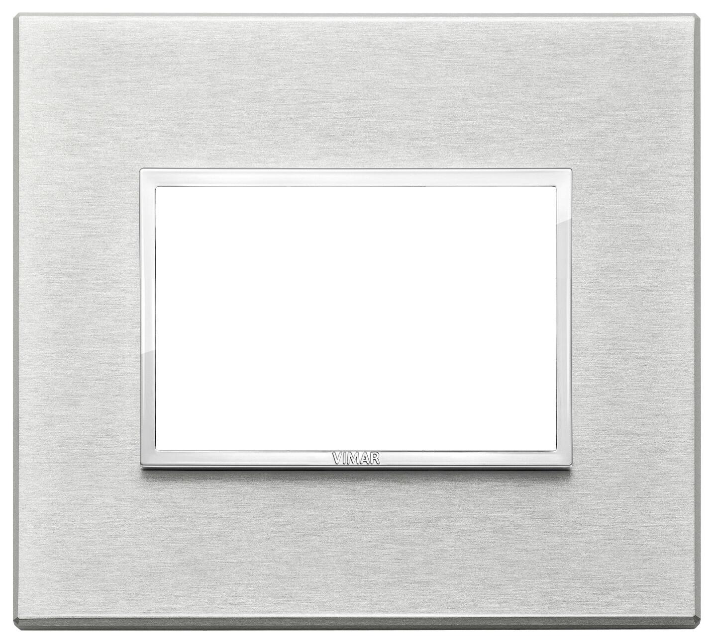 Накладка Evo на 3 модуля, серый серебристый