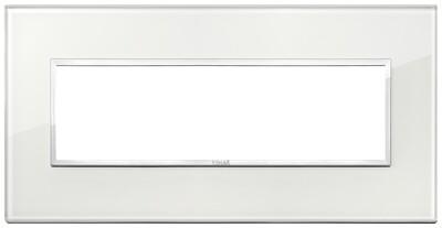Накладка Evo на 7 модулей, белый бриллиант