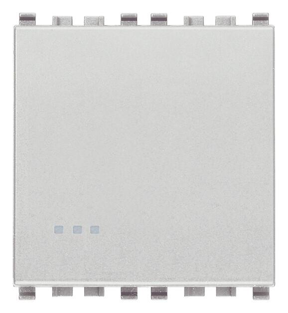 Переключатель 1p 16ax 2m, серебро матовое