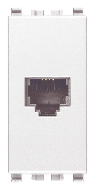 Розетка RJ11 6/4 для штекера, белая