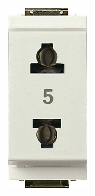 Розетка 2P 15A американский стандарт US + EU D4,8, белая