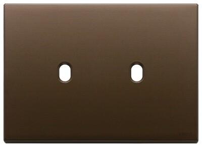 Накладка, 3 мод на 2 выкл., брошированная темная бронза