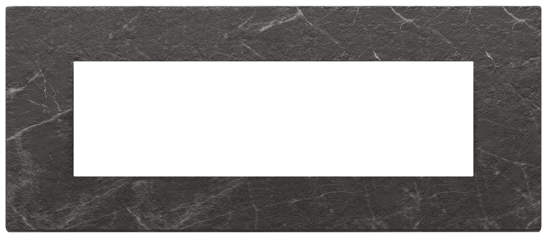 Накладка на 7 модулей, nero Marquina