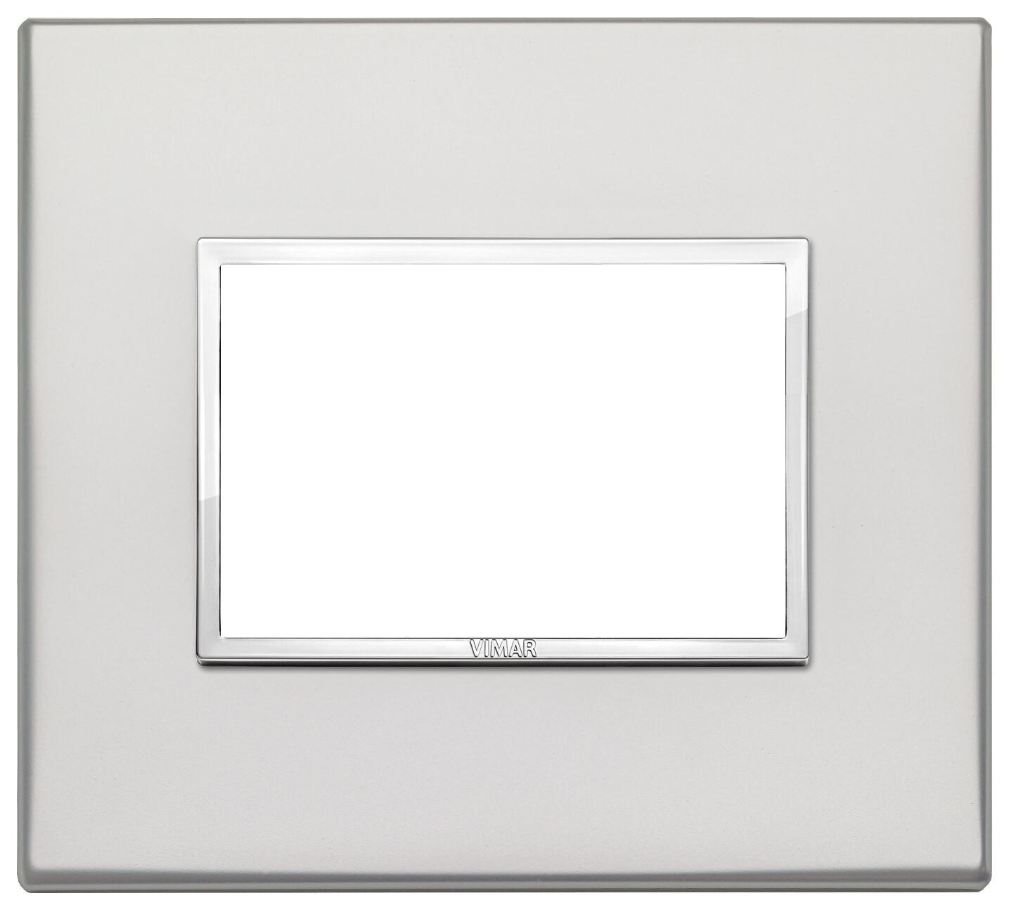 Накладка Evo на 3 модуля, серебро