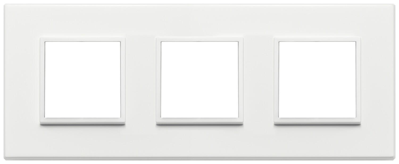 Накладка Evo на 6 модулей (2+2+2) расстояние между центрами 71мм, серый жемчугполностью