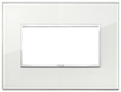 Накладка Evo на 4 модуля, белый бриллиант