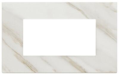 Накладка на 4 модуля, белая Калькутта