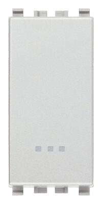 Кнопка 1p no 10a, серебро матовое