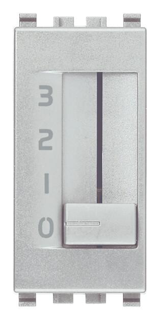 Коммутатор движковый 1p 6(2)a, серебро матовое