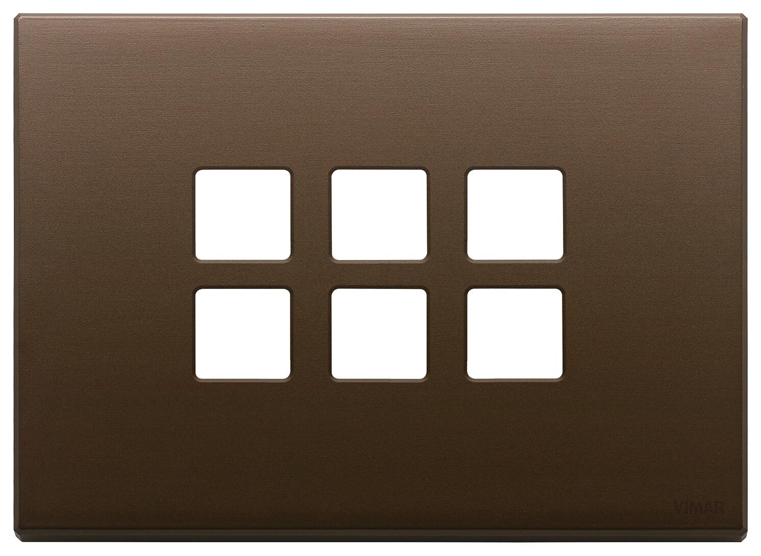 Накладка плоская, 3 мод на 6 кн., темная бронза
