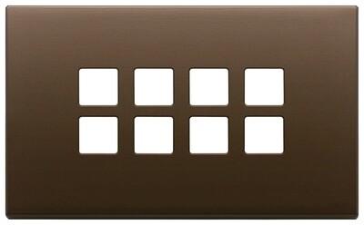 Накладка плоская, 4 мод на 8 кн., темная бронза