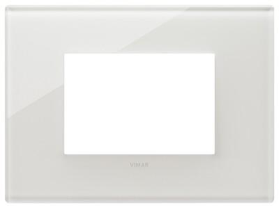 Накладка на 3 модуля, белый латте