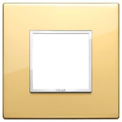 Накладка Evo на 2 модуля, глянцевое золото