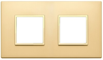 Накладка EVO для 4 модулей (2+2) расстояние между центрами 71мм, золото сатированное
