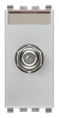 Розетка коаксиальная для штеккера типа F ,серебро матовое