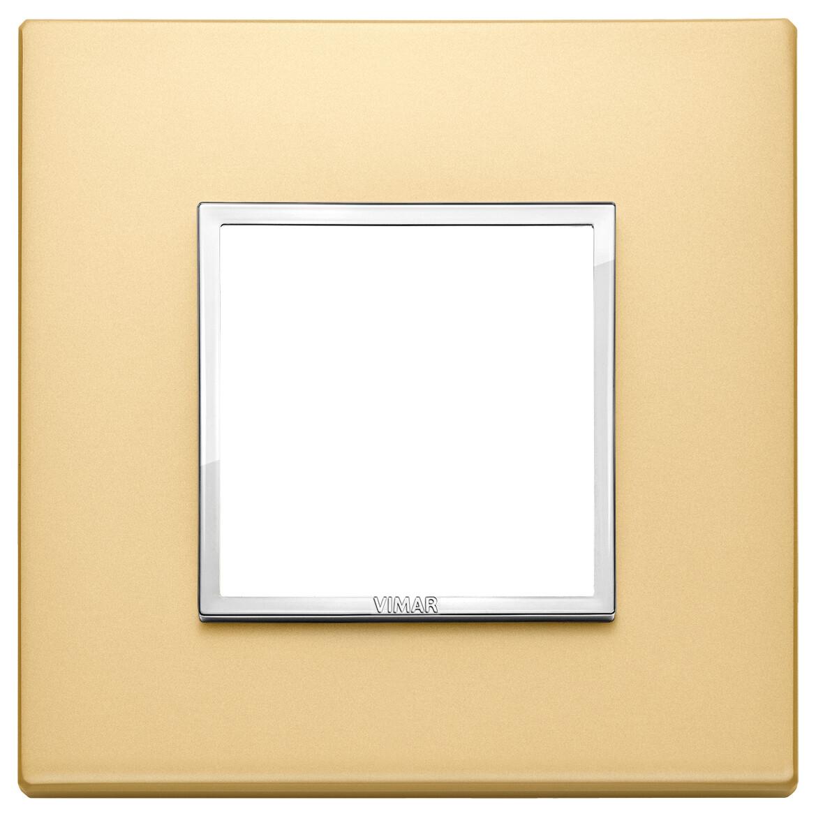 Накладка Evo на 2 модуля, сатинированное золото