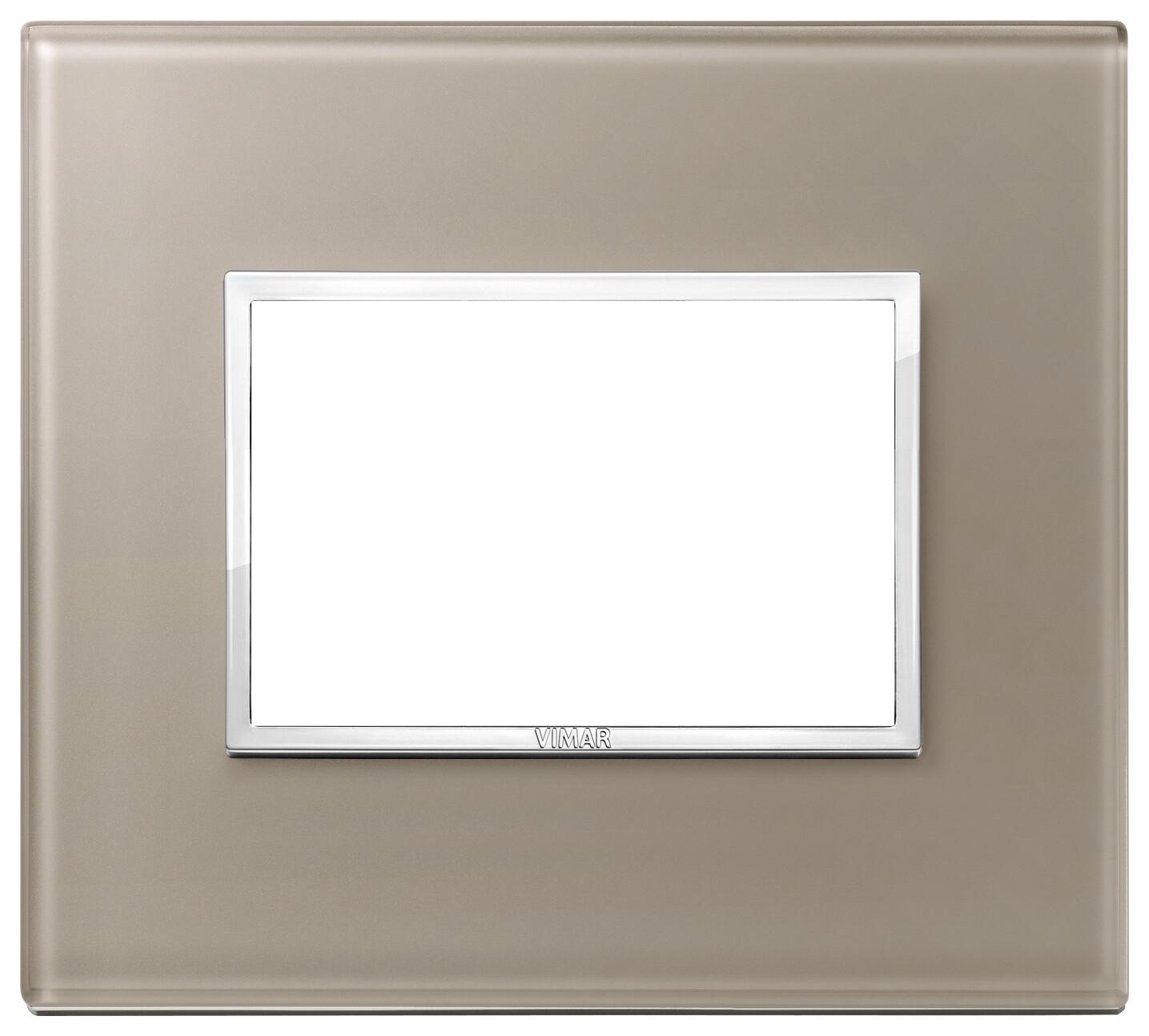 Накладка Evo на 3 модуля, коричневый опал