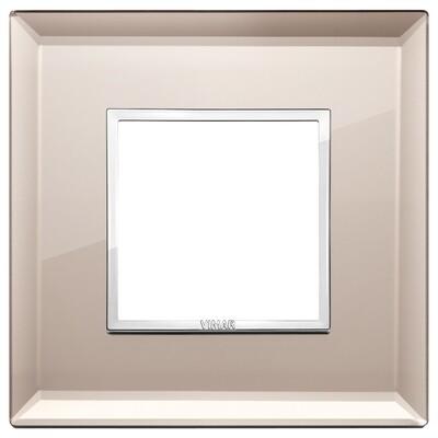 Накладка Evo на 2 модуля, бронзовое зеркало