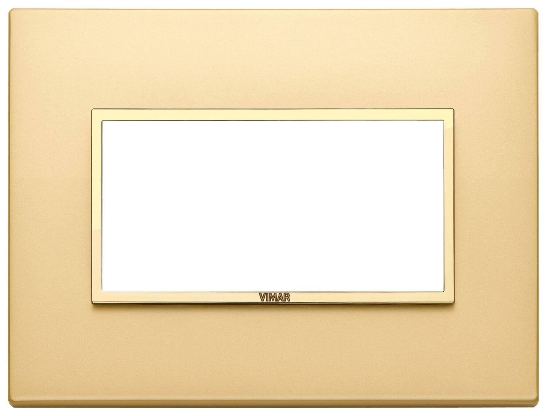 Накладка EVO для 4 модулей, золото сатинированное