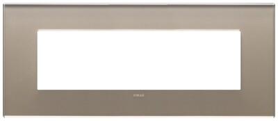 Накладка на 7 модулей, коричневый опал