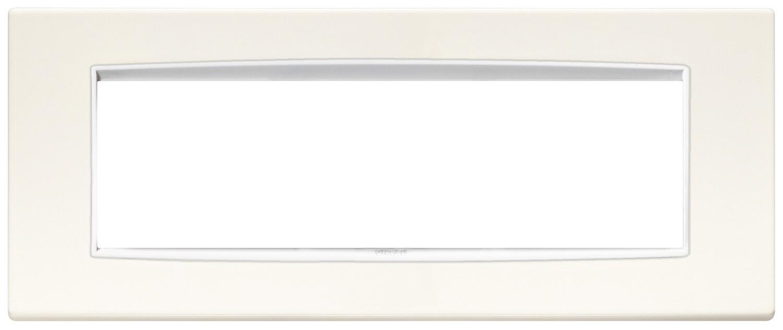 Накладка классика на 7 модулей арктическая белая с белым обрамлением