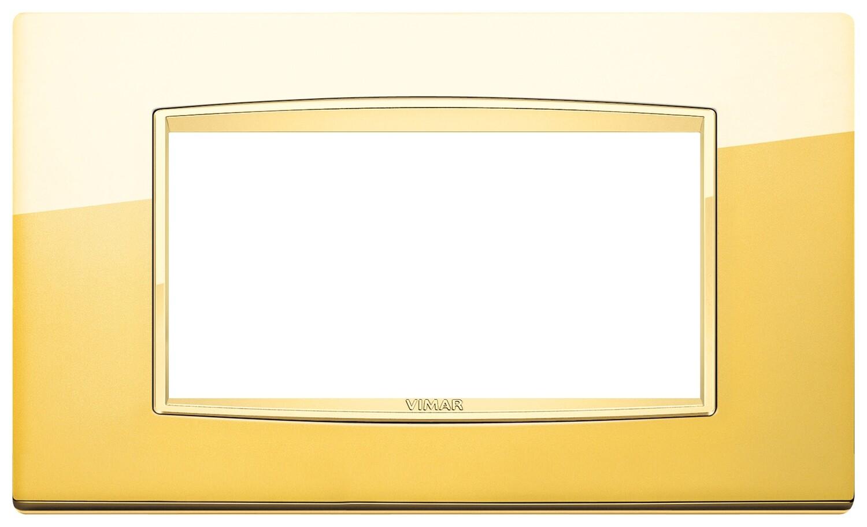 Накладка классика для 4 модуля золото глянцевое