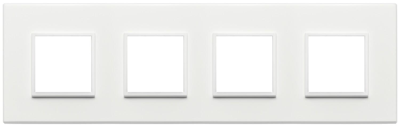 Накладка Evo на 8 модулей (2+2+2+2) расстояние между центрами 71мм, серый жемчугполностью