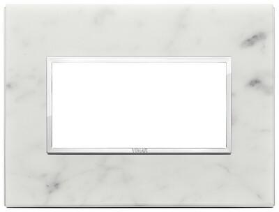 Накладка Evo на 4 модуля, белый каррара