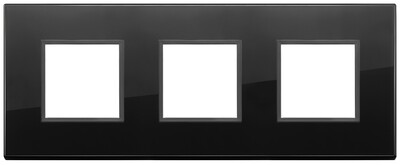 Накладка Evo на 6 модулей (2+2+2) расстояние между центрами 71мм, полностью черный бриллиант