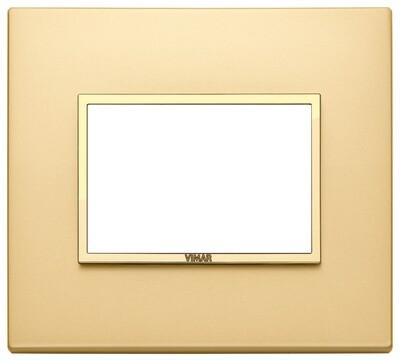 Накладка EVO для 3 модулей, золото сатинированное