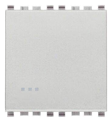Выключатель 1p 16ax 2m, серебро матовое
