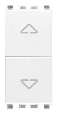 Две кнопки взаимоблокируемые no+no 10a , белые