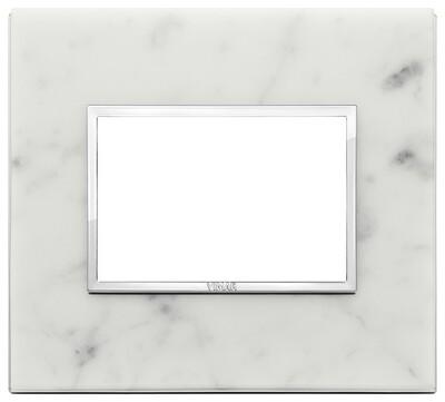 Накладка Evo на 3 модуля, белый каррара