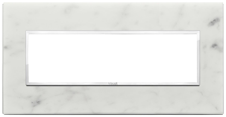 Накладка Evo на 7 модулей, белый каррара