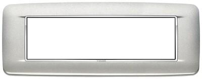 Накладка с закруглениями для 7 модулей серебро матовое