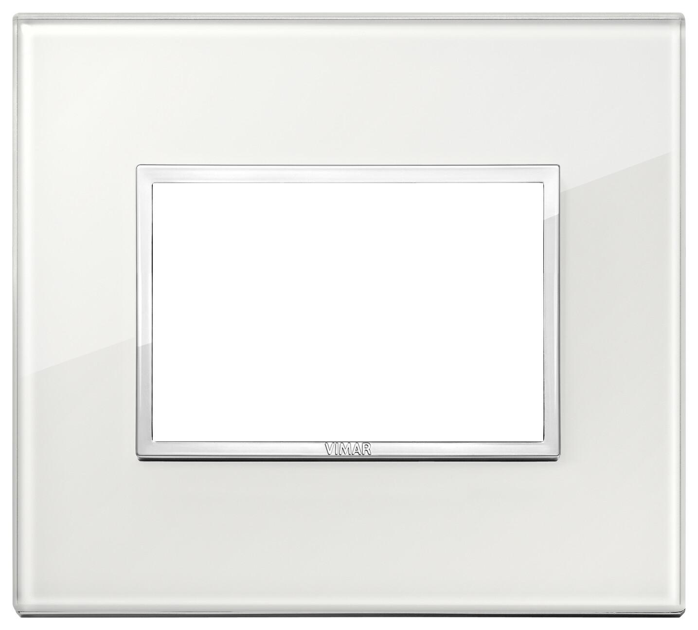 Накладка Evo на 3 модуля, белый бриллиант