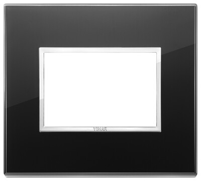 Накладка Evo на 3 модуля, черный бриллиант