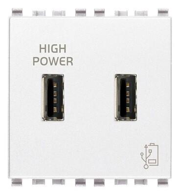 Зарядное устройство с разъемом USB 5V 2,1A 2M, белое
