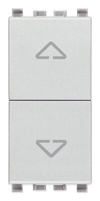 Переключатель с центр положением 2p 10ax, серебро матовое