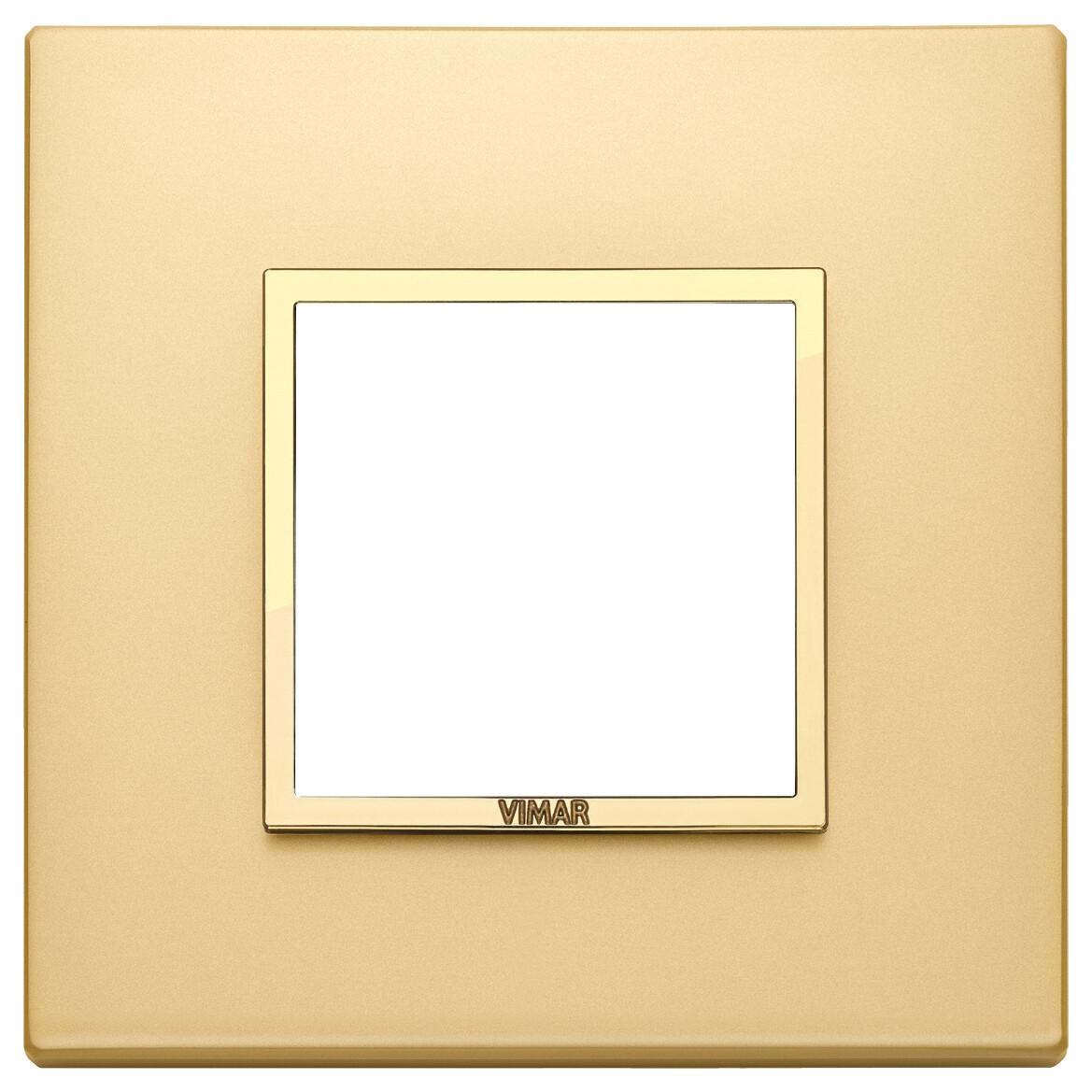 Накладка EVO для 2 модулей, золото сатированное