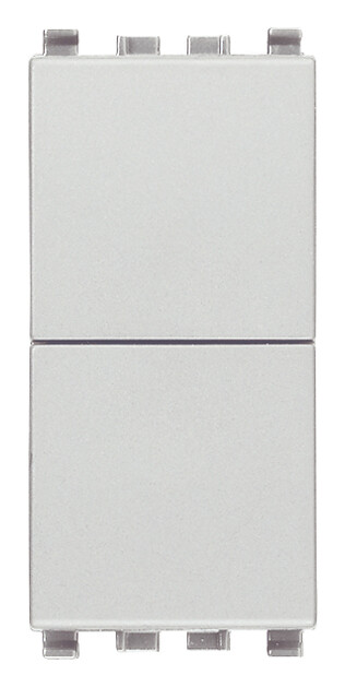 Две кнопки независимые no+no 10a, серебро матовое