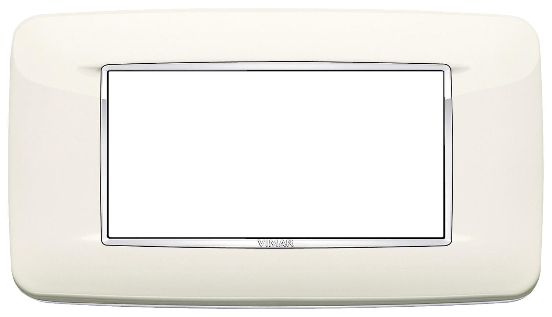 Накладка с закруглениями для 4 модулей арктическая белая