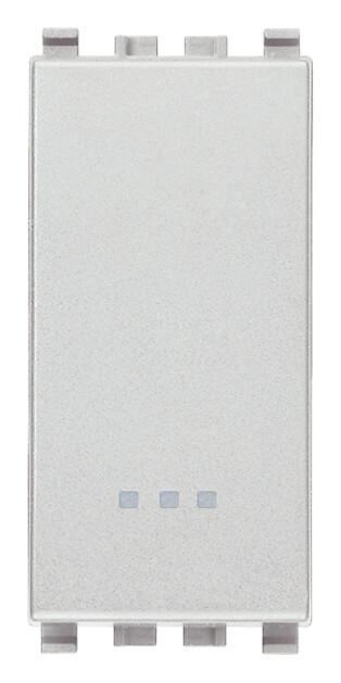 Переключатель 1p 16ax, серебро матовое