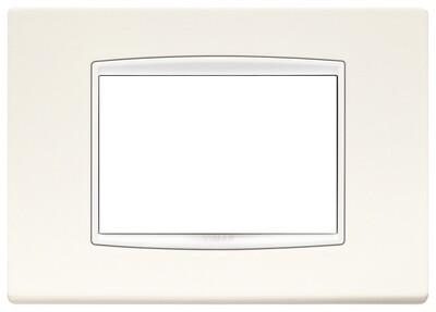 Накладка классика на 3 модуля арктическая белая с белым обрамлением