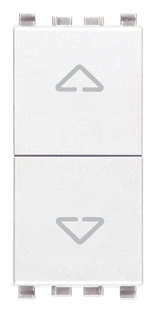Переключатель с центр положением 2p 10ax , белый